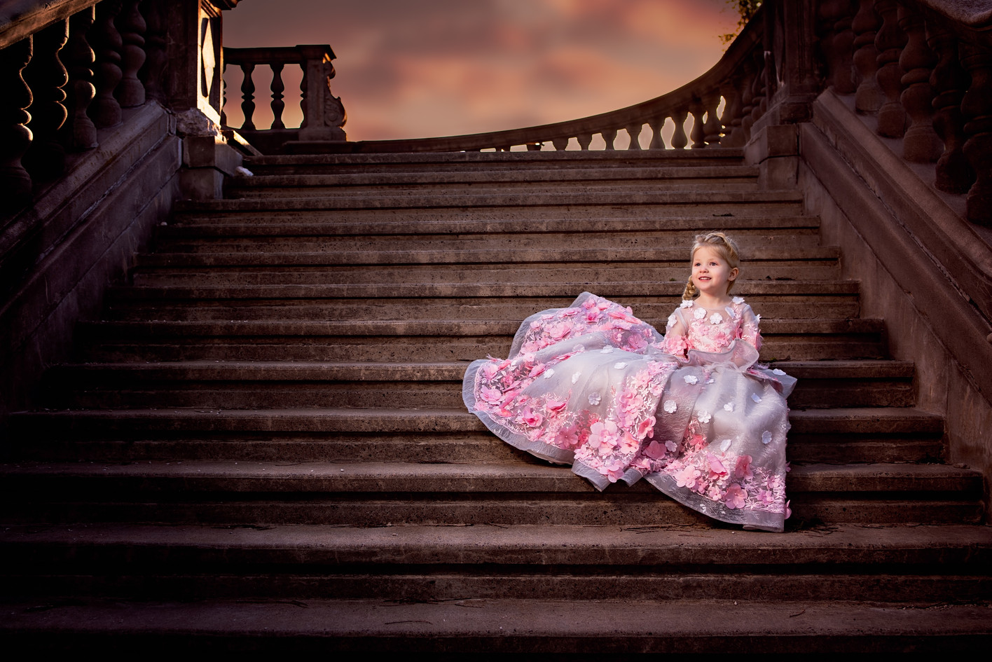 Epic princess photography at a castle