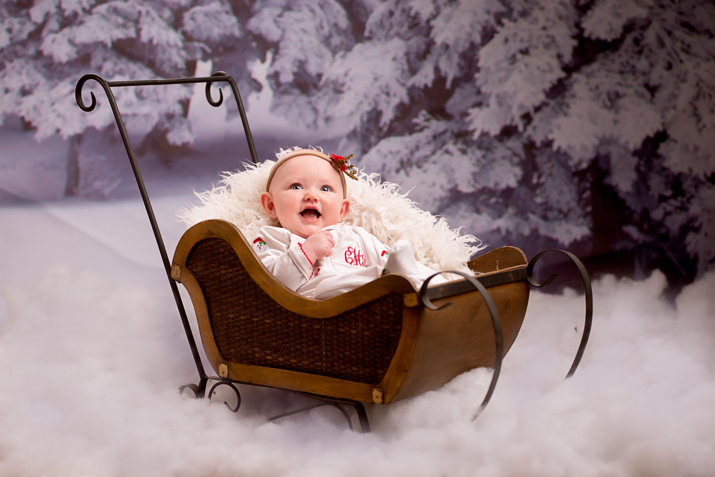 Snowy 3 month milestone photography