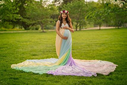 Rainbow baby photography