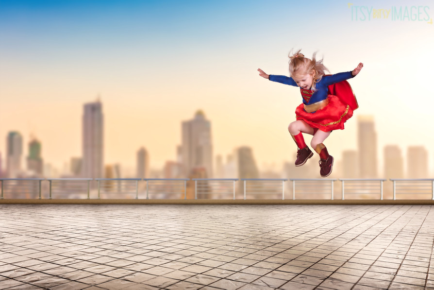 Super girl saves the day