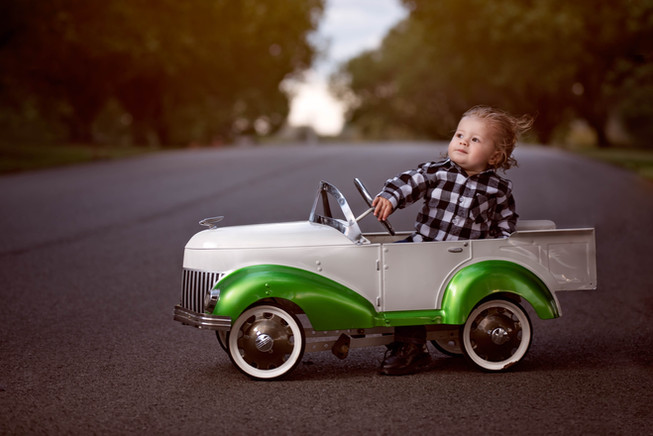 A Sunday Driver in a Pedal Car