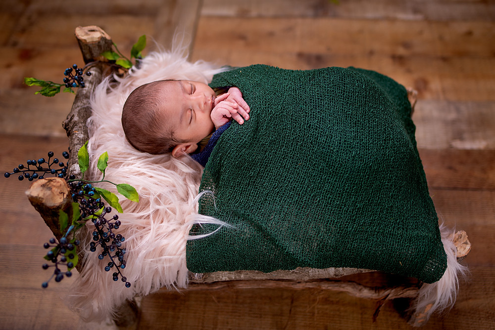 Overland Park newborn bed prop picture