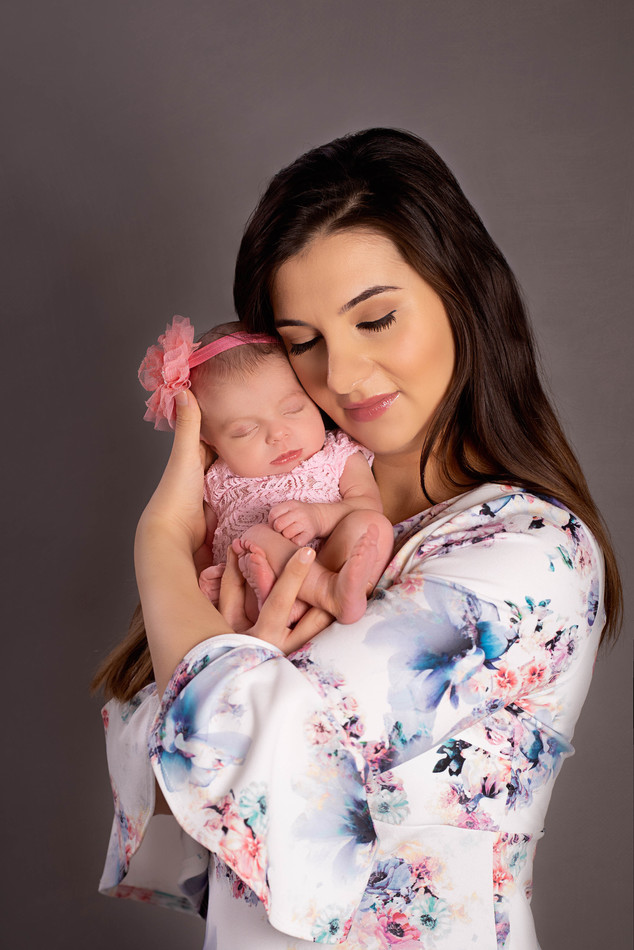 Mommy and me newborn picture