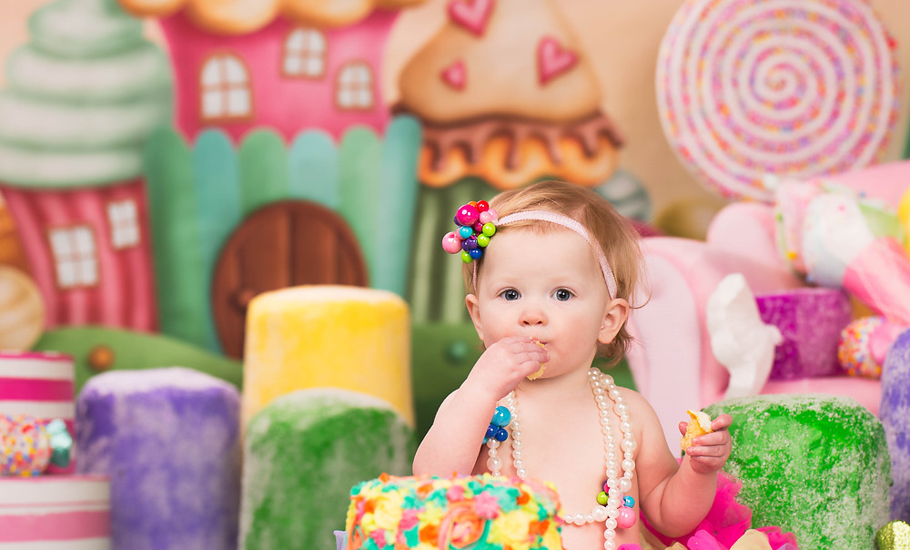 First Birthday Photography with Cupcakes and Treats