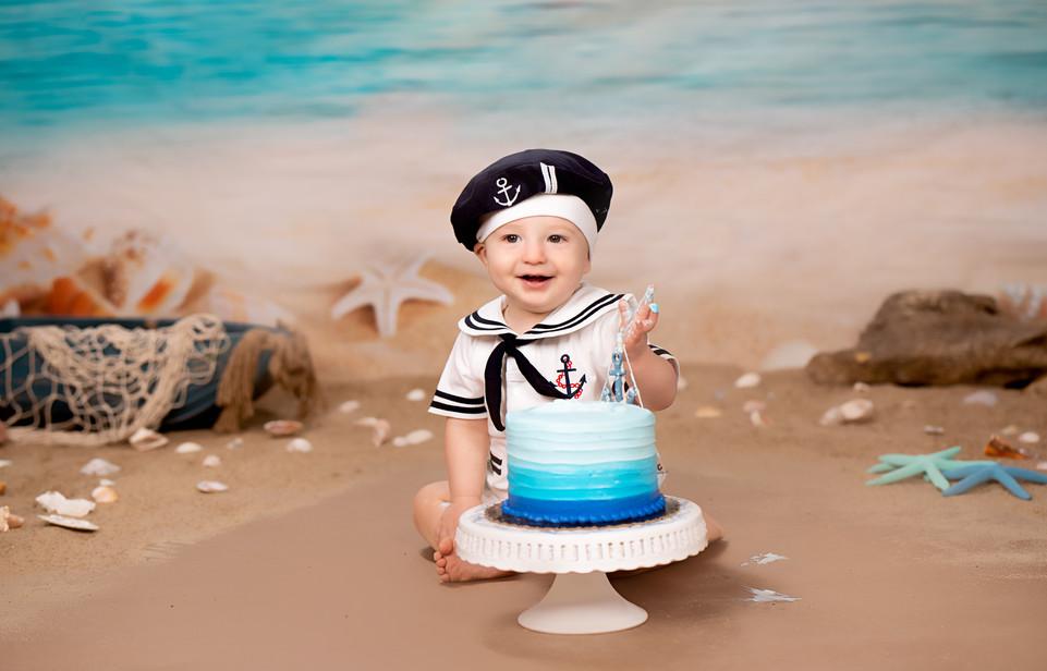Little Sailor 1st Birthday Photos