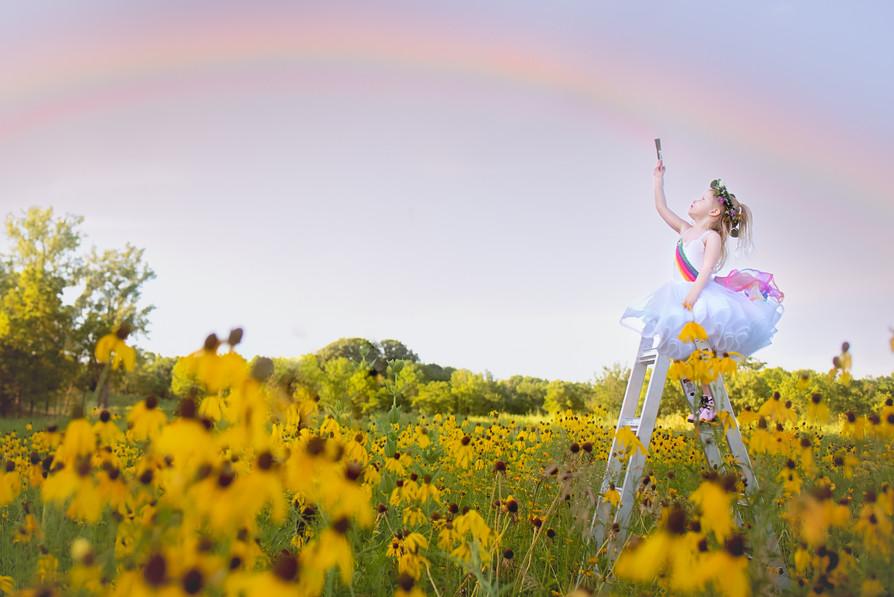 Painting a Rainbow Themed Photoshoot