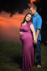 Night time maternity photos