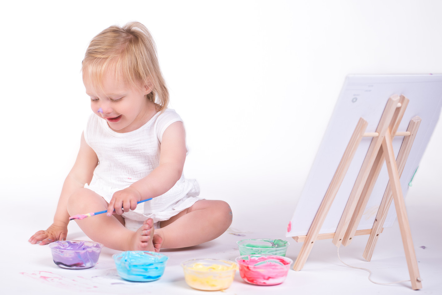 Finger Paint Photo Session