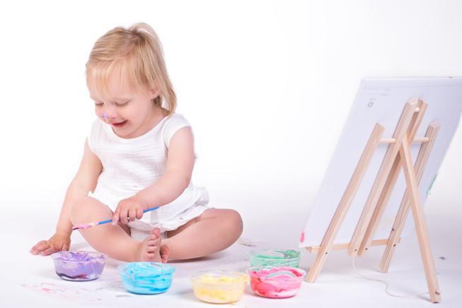 Finger Paint Photo Session