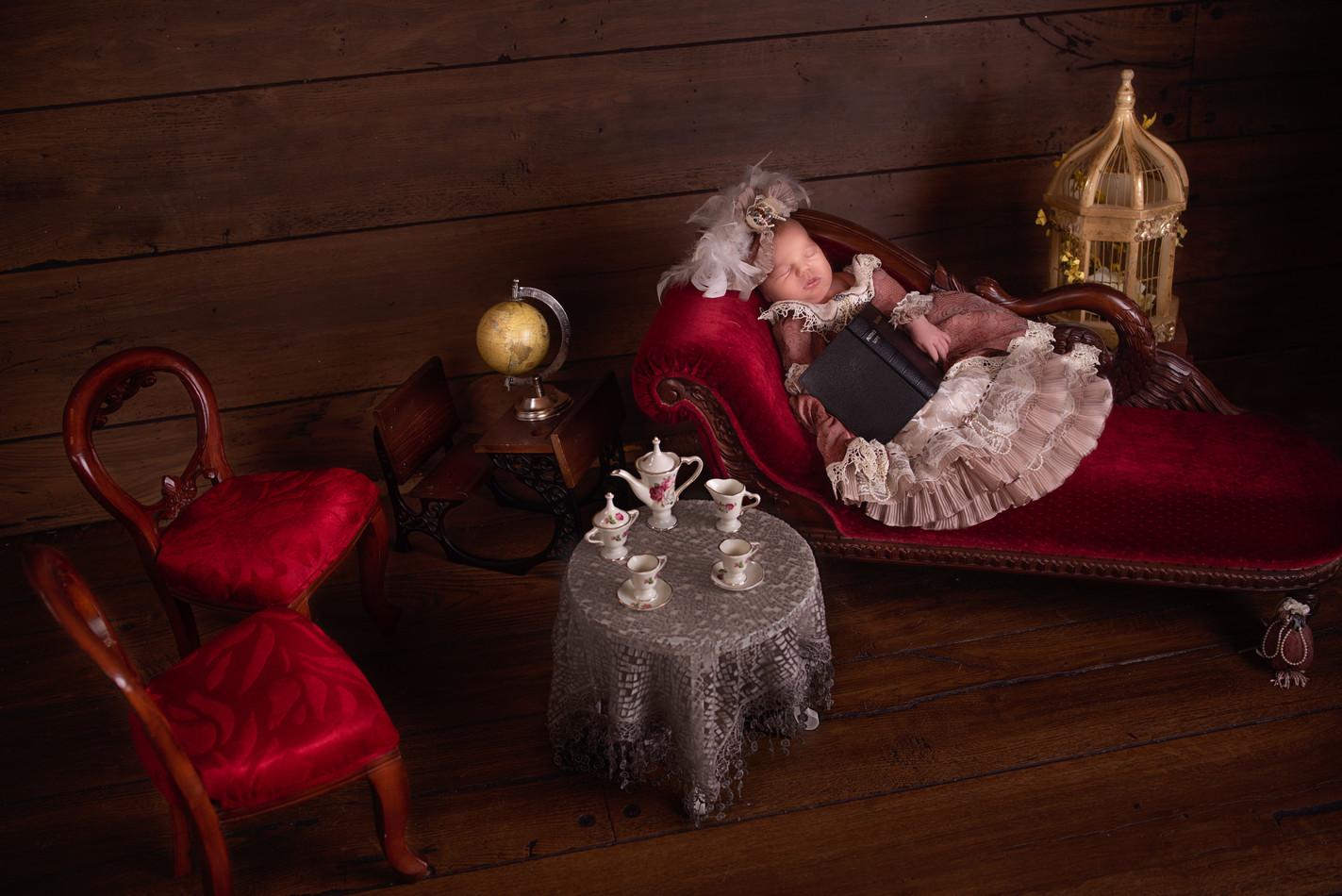 Victorian Themed Newborn Photography