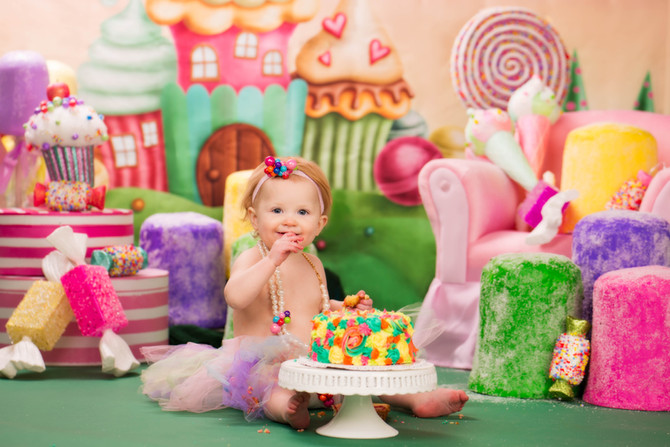 Candy Land Smash Cake