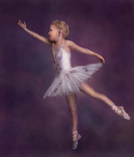 Ballet Painted Portrait