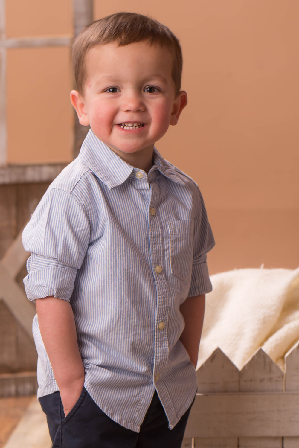 Hansom 2 year old boy in his Sunday best