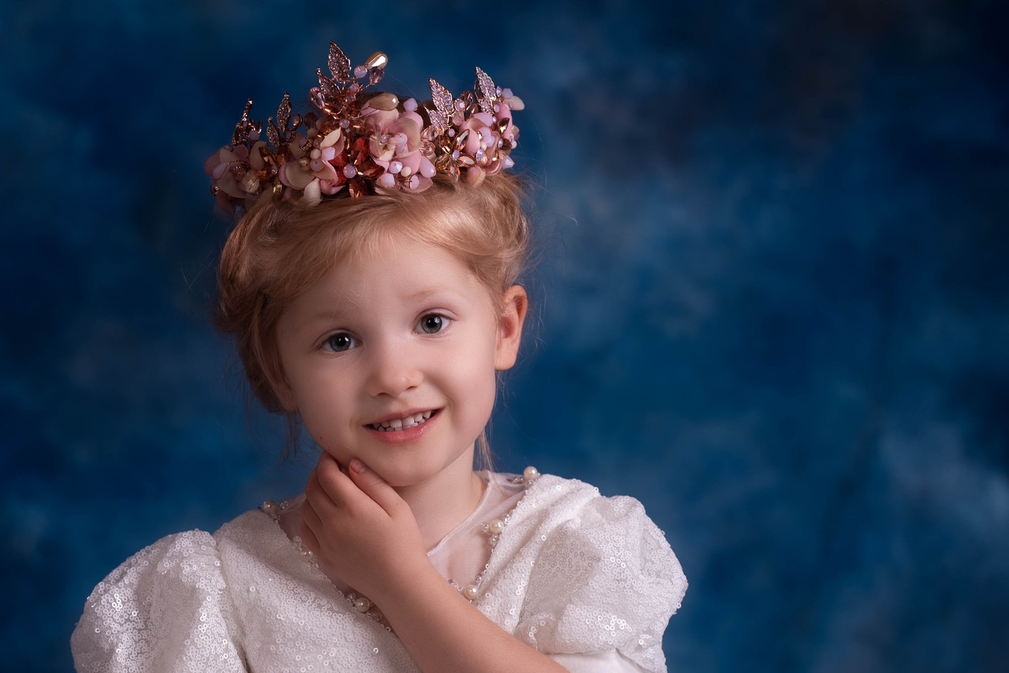 Sweet child picture with ornate crown