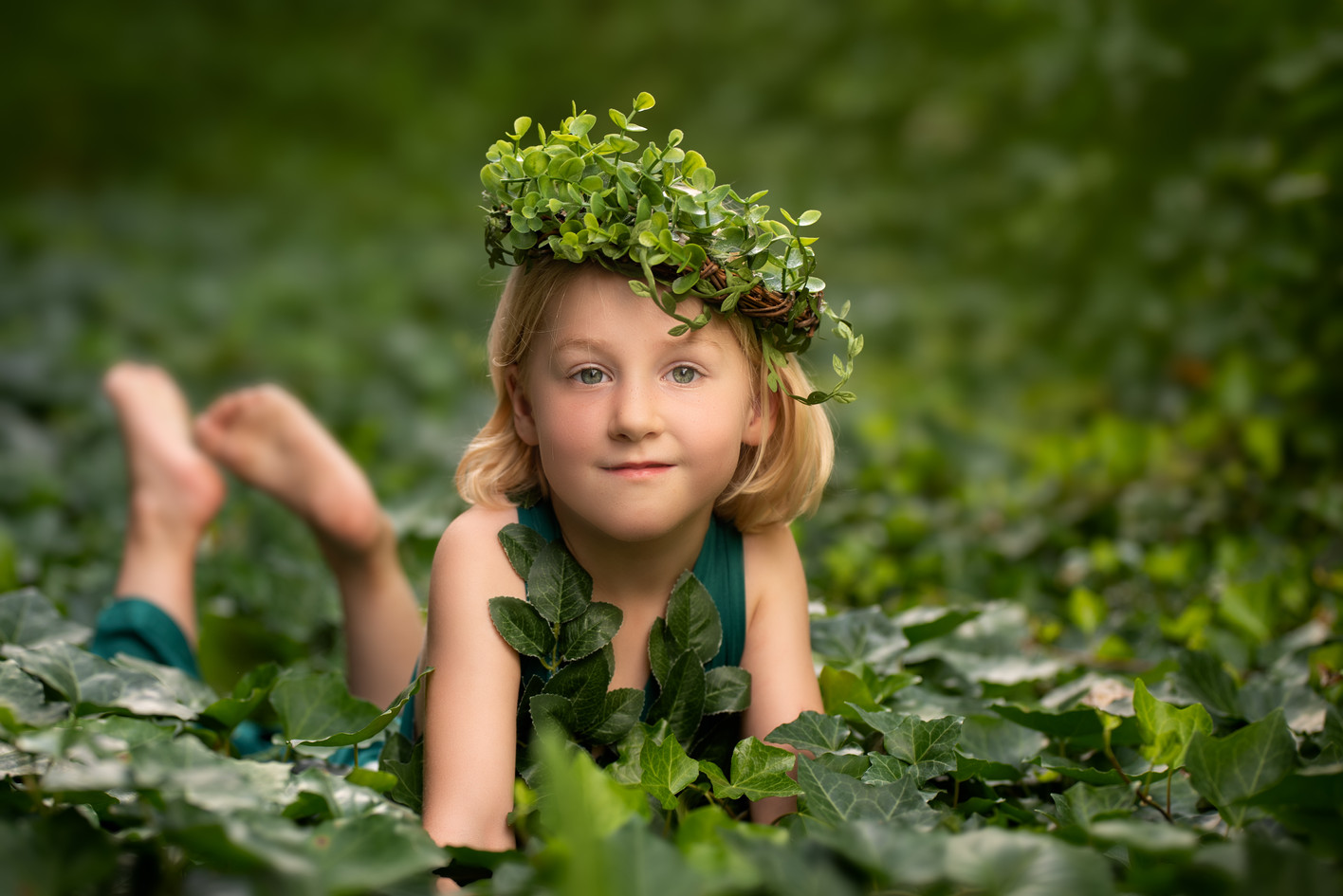 Mother Earth with leaf crown