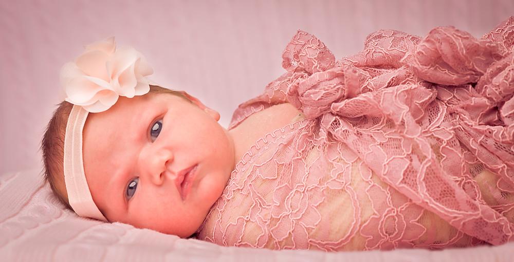 Newborn Looking At Camera