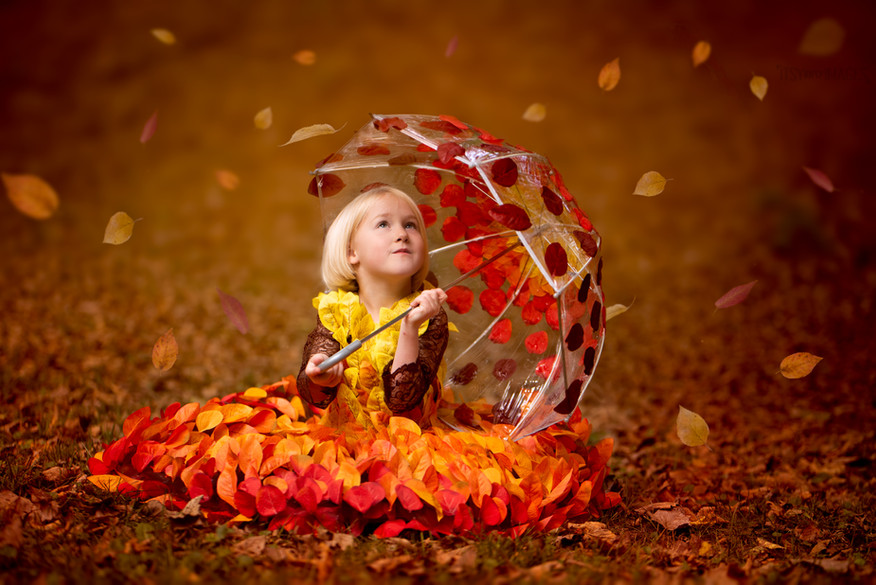 Fall Leaves Dress and Umbrella