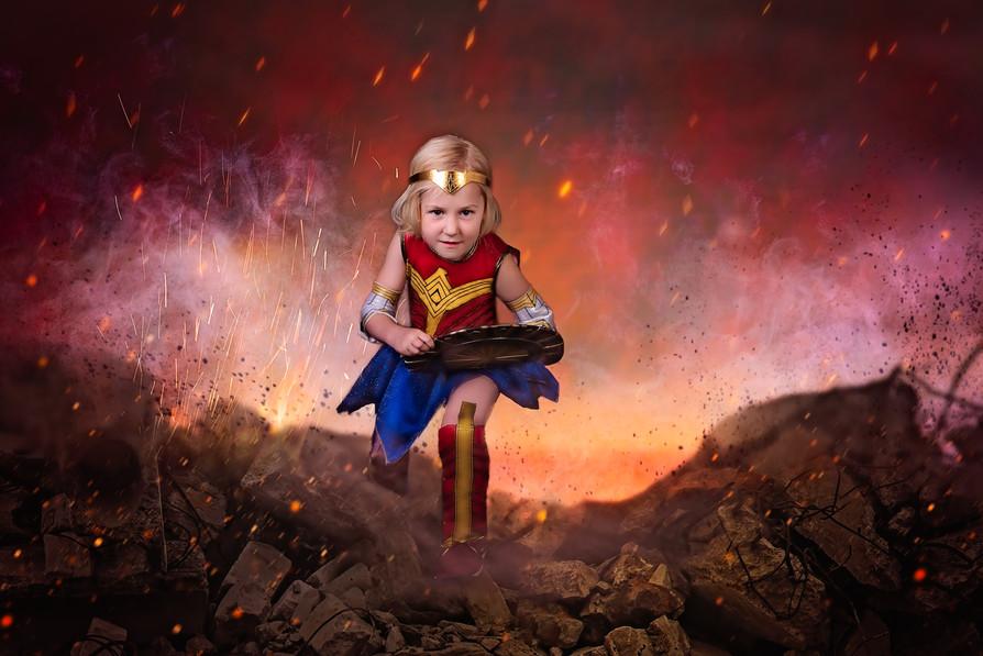 Marvel themed kids photoshoot