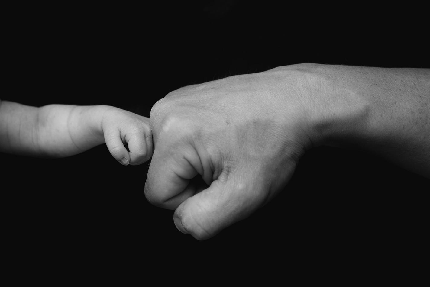 Newborn Fist Bump
