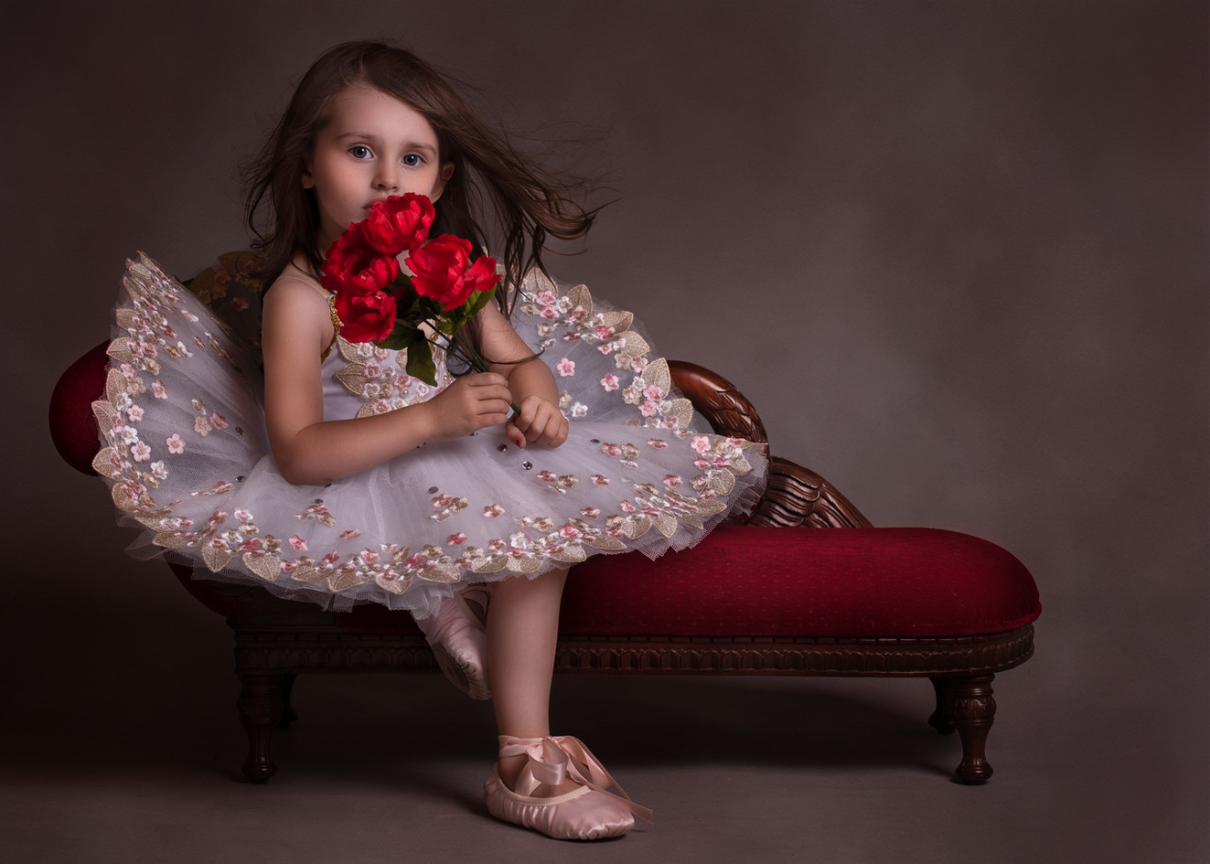 Ballerina with a Bouquet of Roses