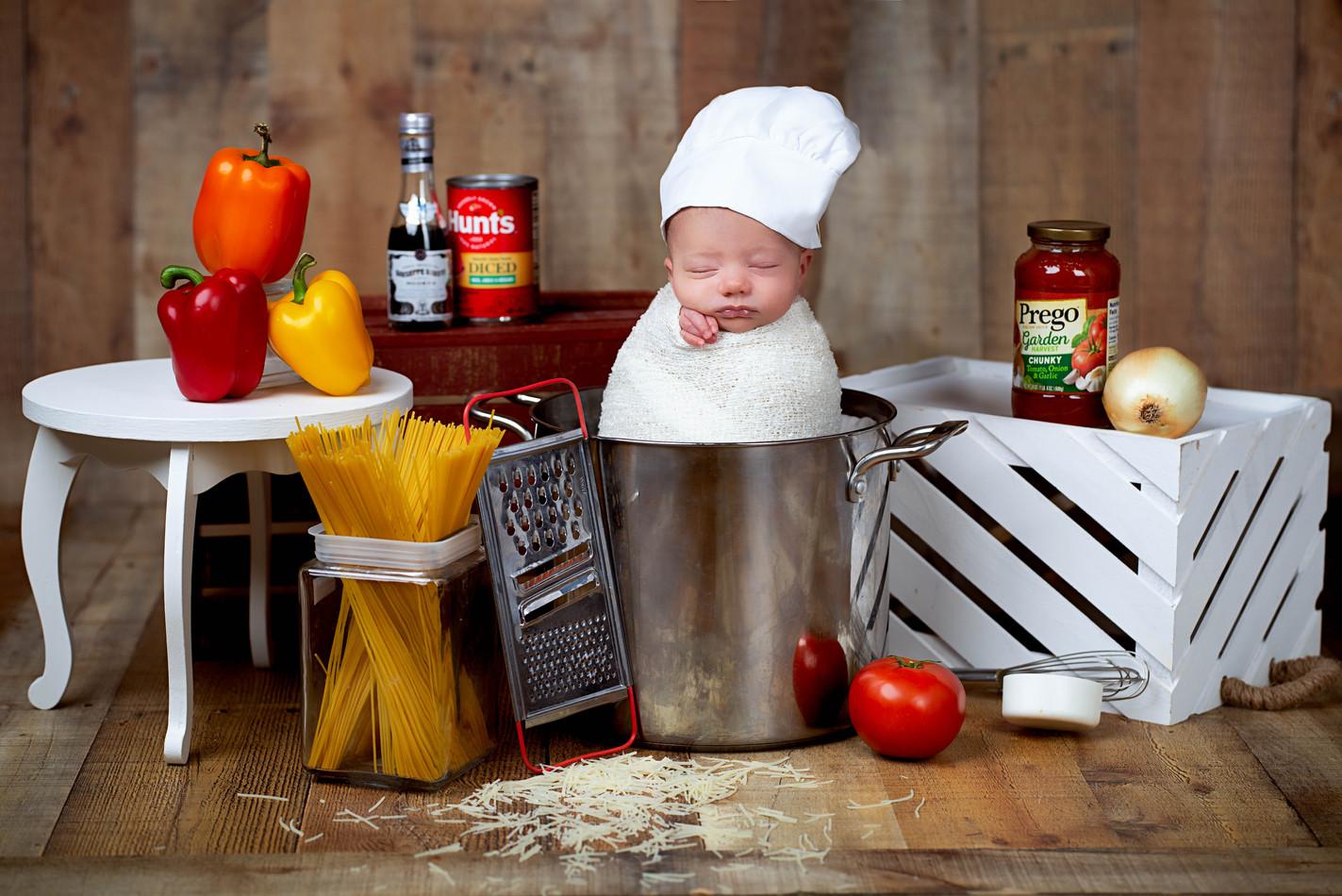Baby Chef newborn picture