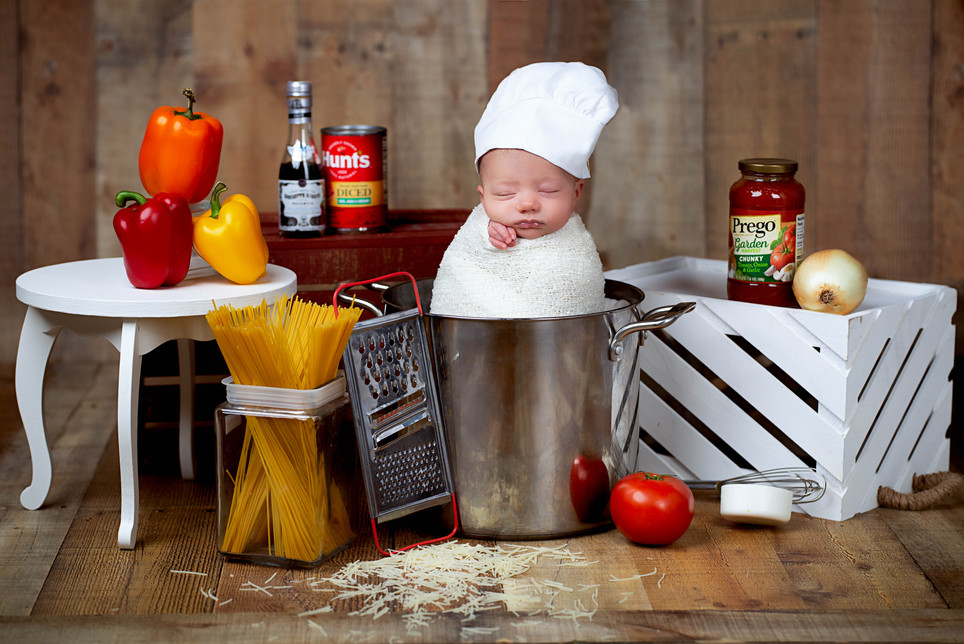 Baby Chef newborn picture