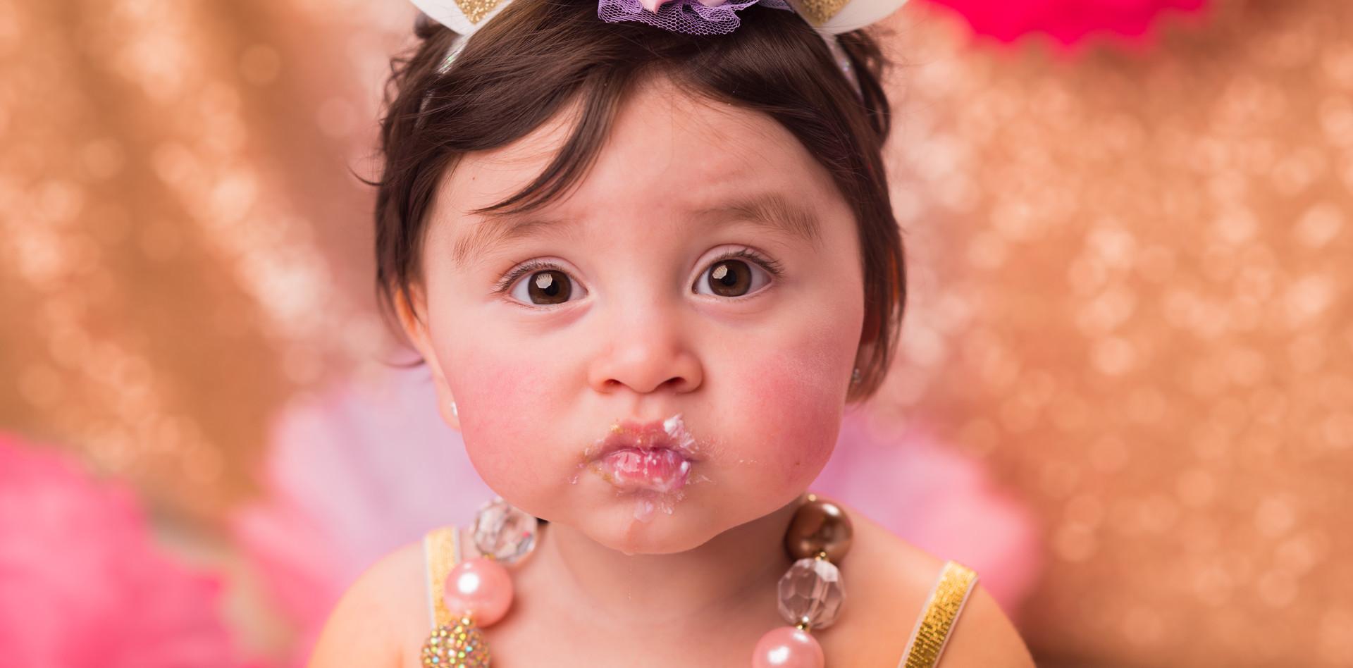 Chubby cheeks baby girl