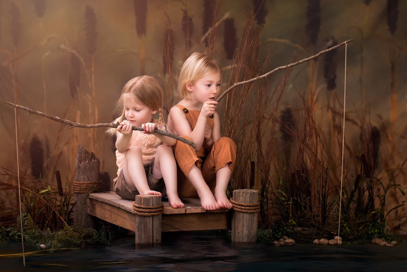 Fishing themed photoshoot