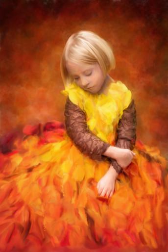 Fall Flames Dress Children's Portrait