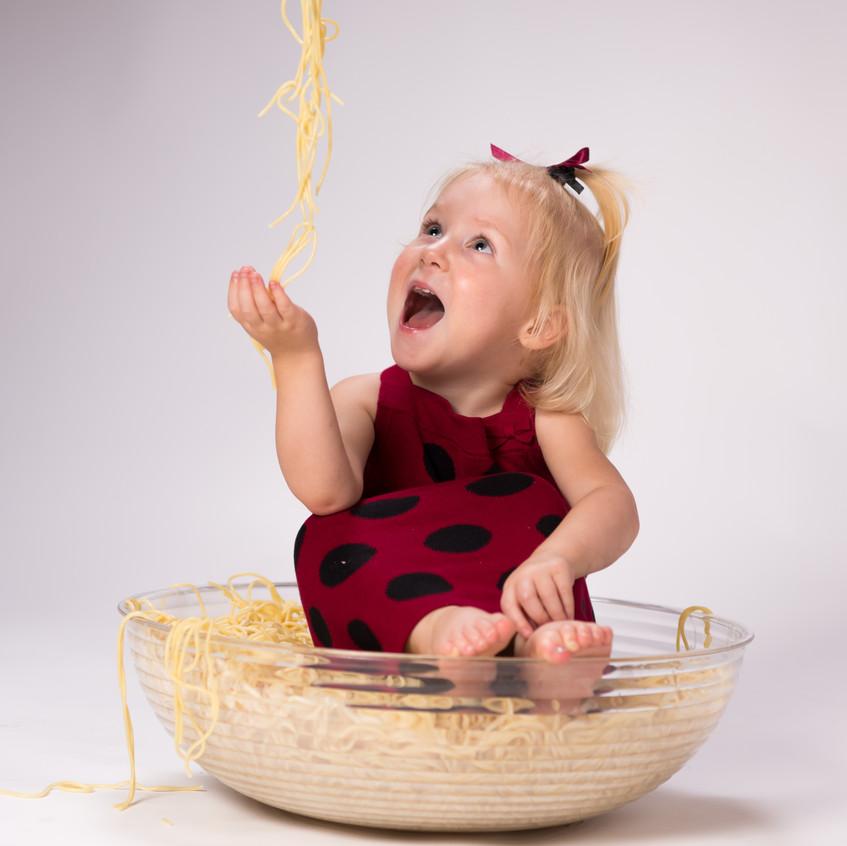 Children's photographer had a milestone food photography session In Lenexa