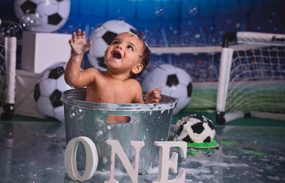 Soccer Balls and a Bubble Bath