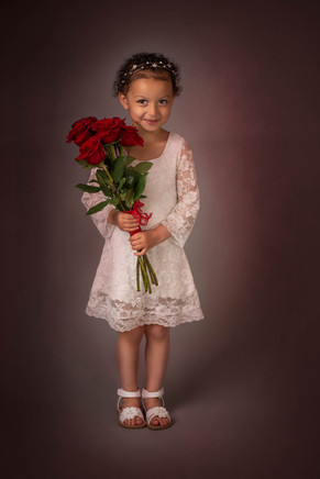 Children's Photography with Fresh Flowers