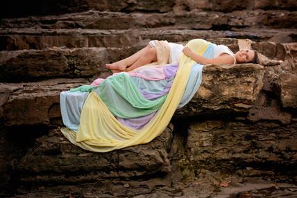 Rainbow baby maternity dress