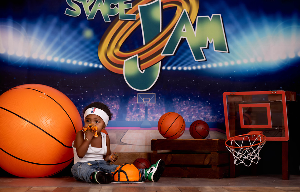Space Jam Basketball Cake Smash Session