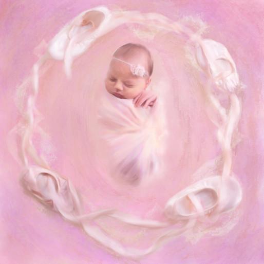 Newborn Ballet Painting