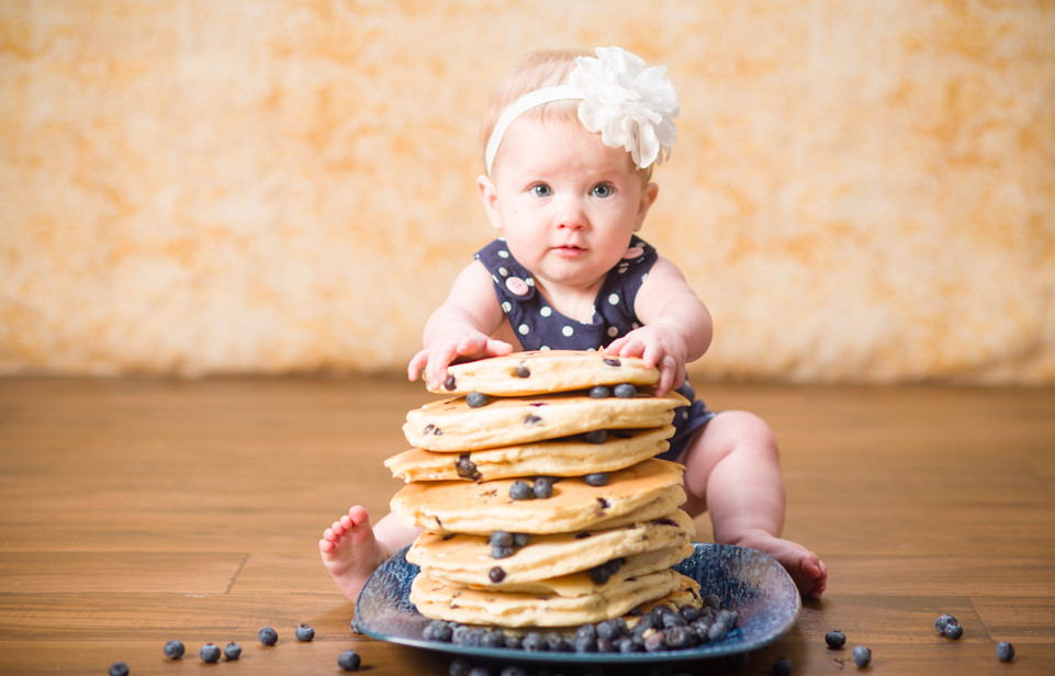Blueberry Pancakes Baby Photography