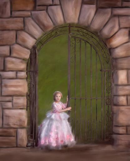 Storybook painting of a princess