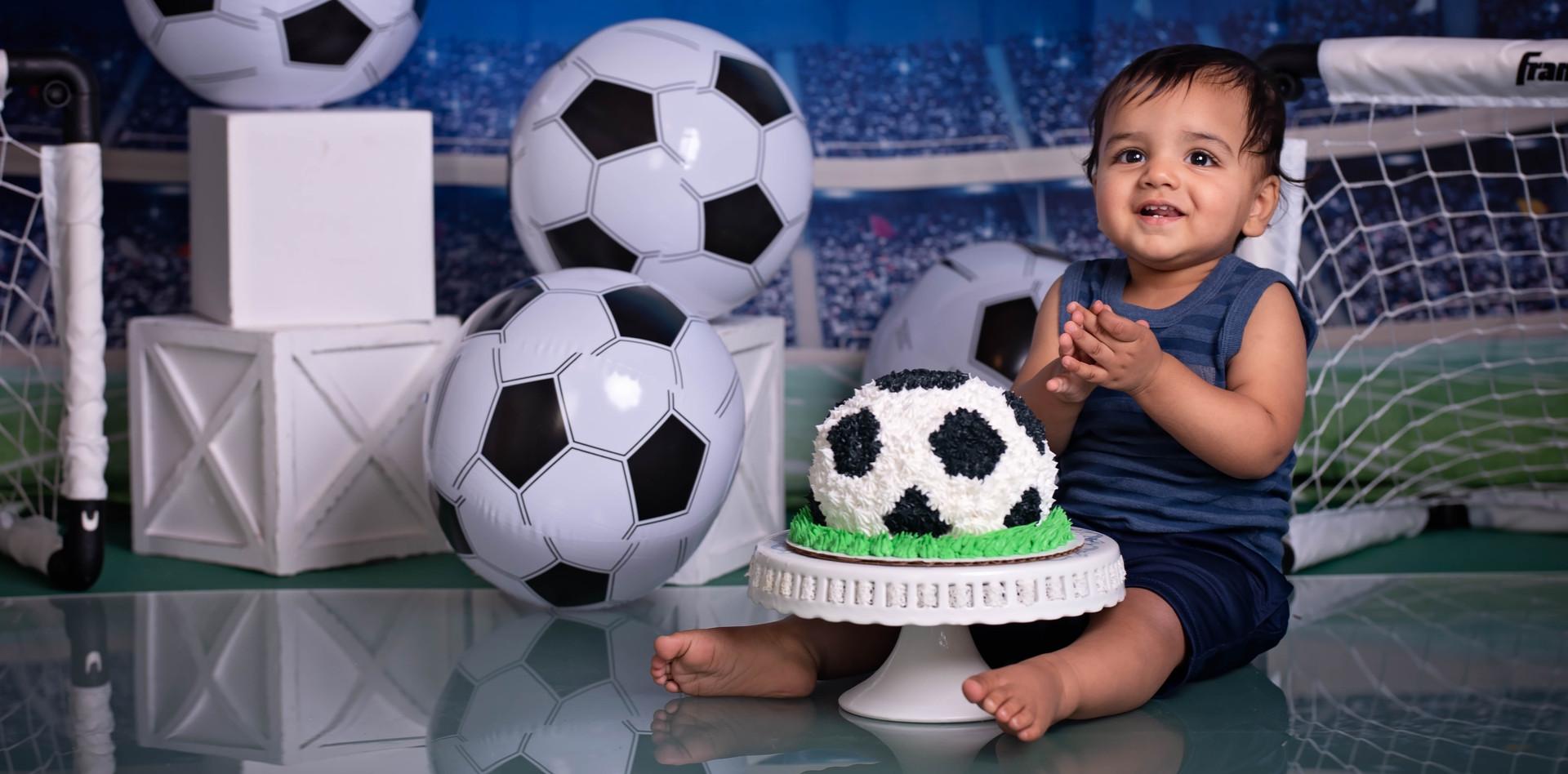 Soccer Themed Cake Smash