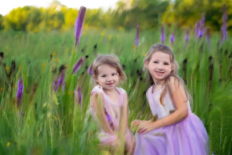 Wild Flower Sisters Painting