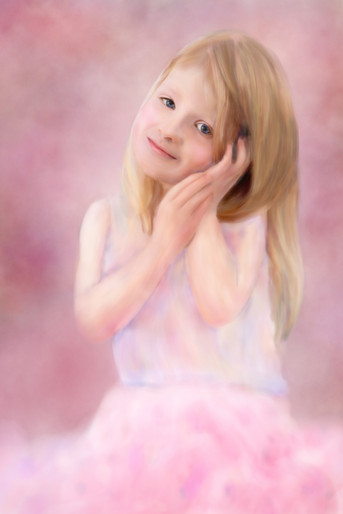 Pink ethereal painting