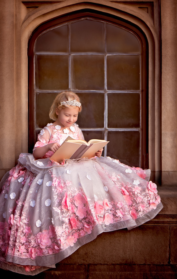 Princess Belle reading her book