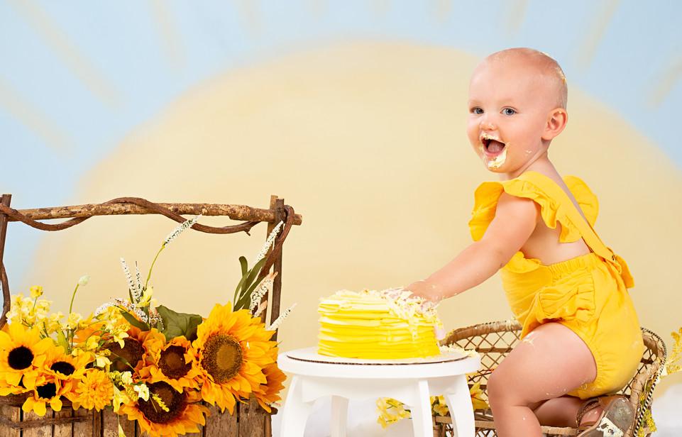 You Are My Sunshine Cake Smash
