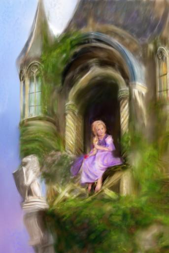 Rapunzel Painted Portrait