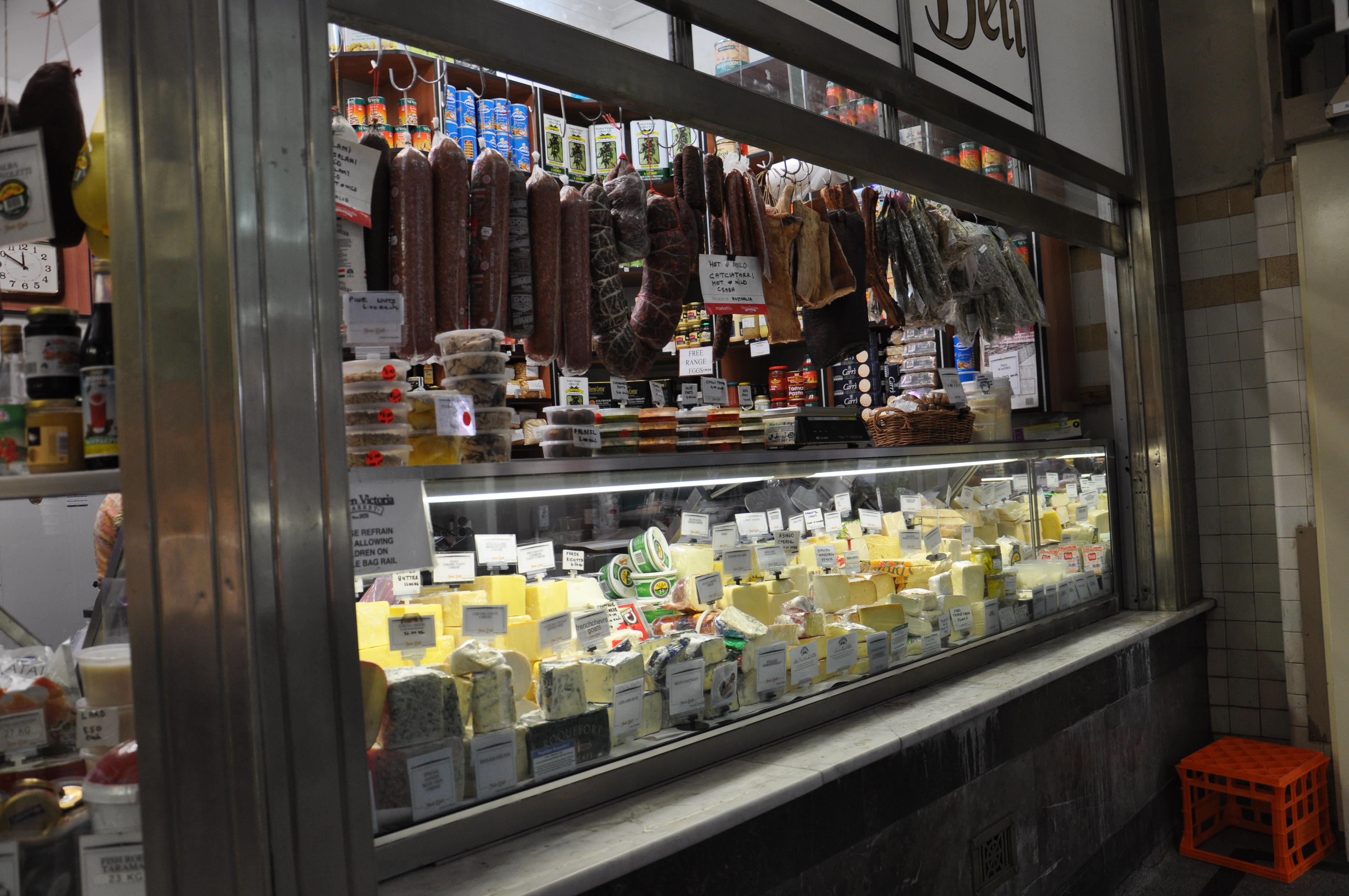 דוכן בשוק במלבורן  Melbourne market