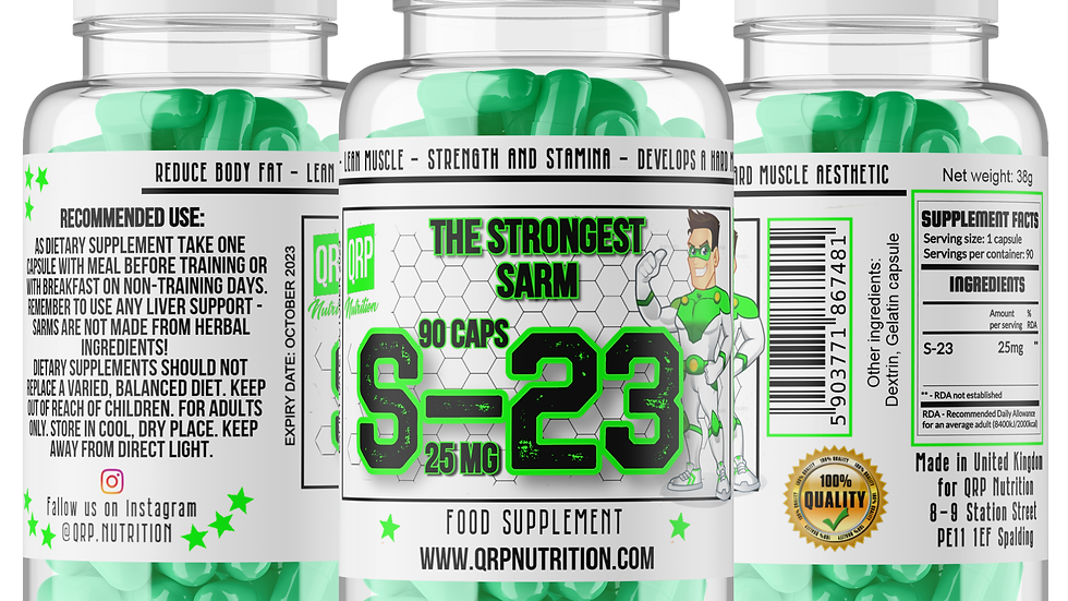 QRP Nutrition S-23 20/25mg (choose size to see price)
