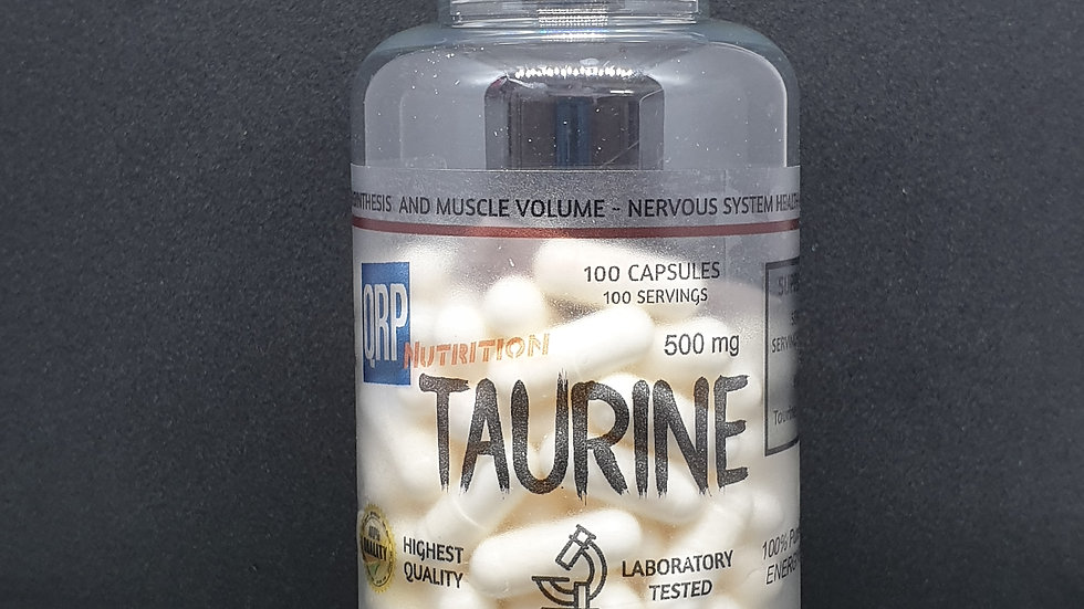 QRP Nutrition Taurine 500mg 100capsules