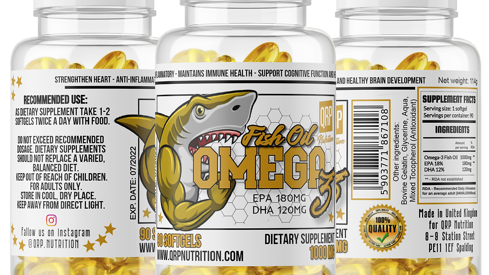 QRP Nutrition Omega-3 Fish Oil 1000mg