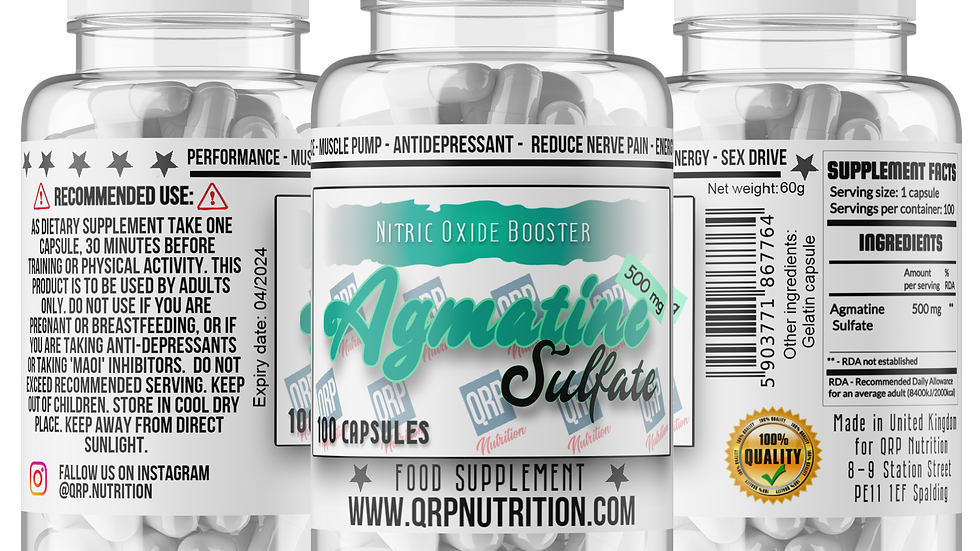QRP Nutrition Agmatine Sulfate 500mg (100 capsules)
