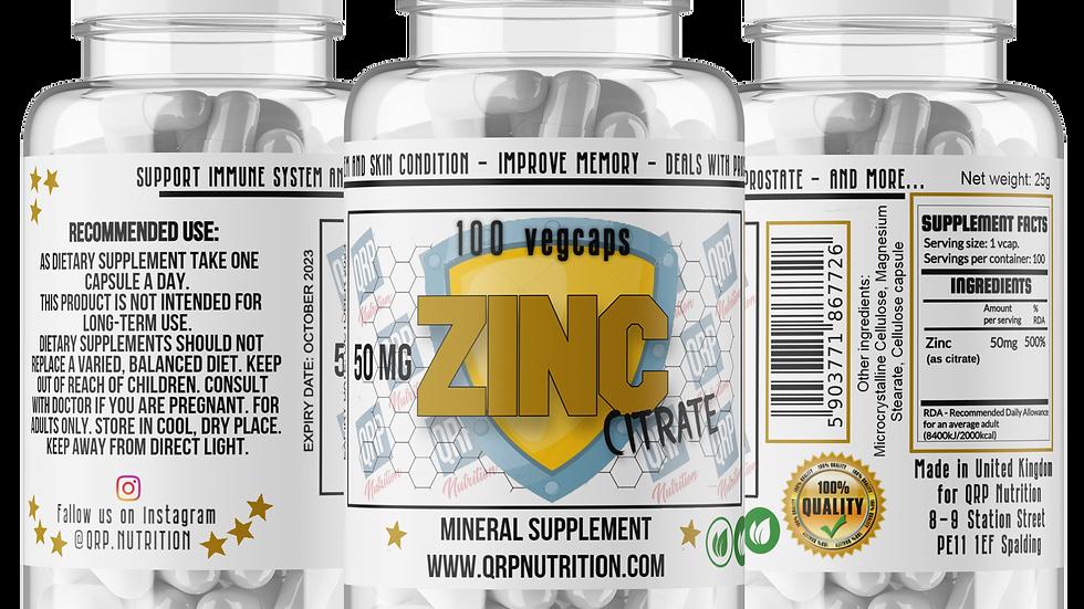 QRP Nutrition ZINC 50mg 100vcaps