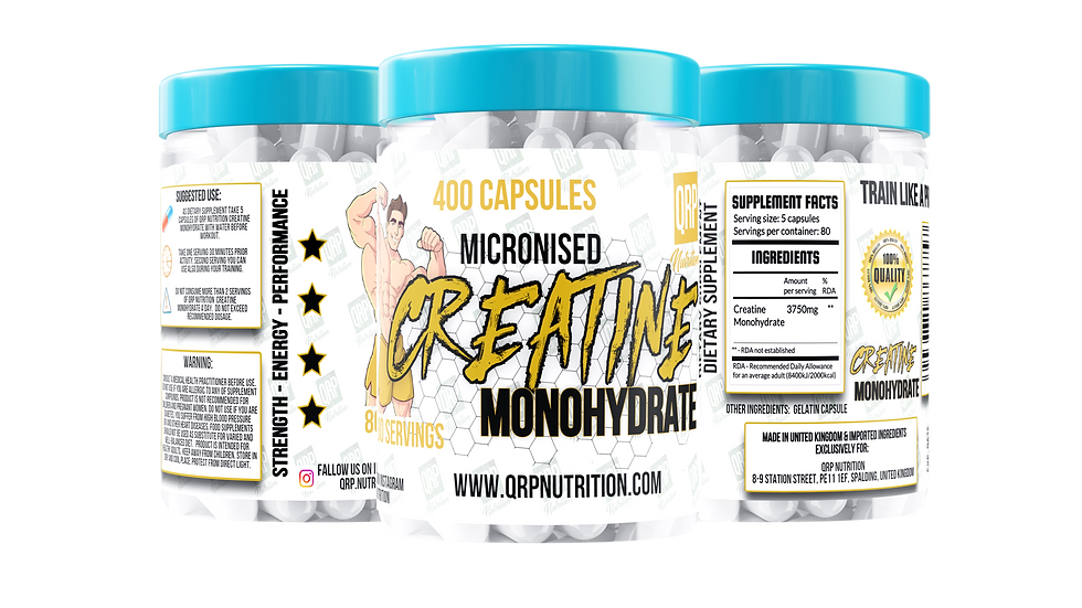 QRP Nutrition Creatine Monohydrate 750mg 400capsules